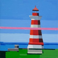 Guy Yanai, Lighthouse, 2012, oil on linen, 40 x 40 cm