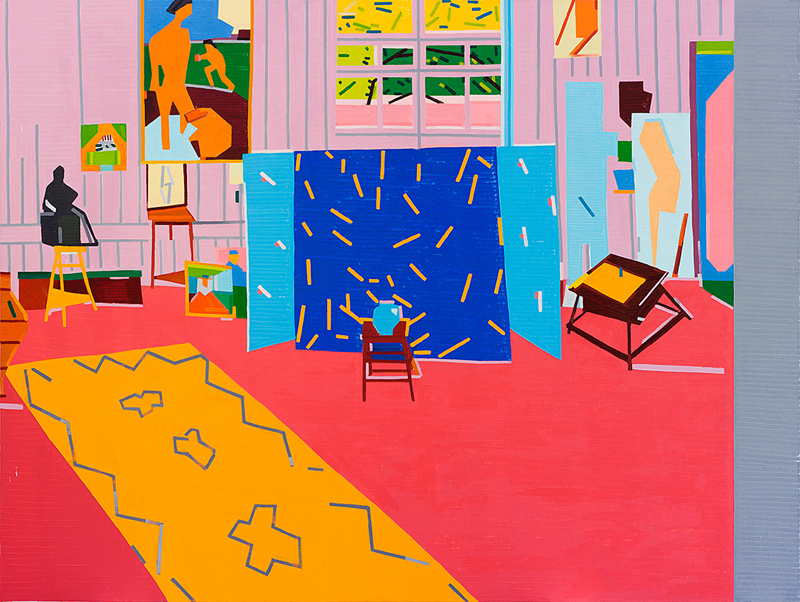 Pink Studio (for Ava) After Matisse, 2014, oil on linen, 180x240 cm