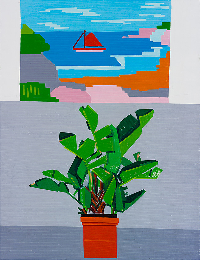 Syracuse Plant and a Picture. 2014, oil on linen, 130x100 cm
